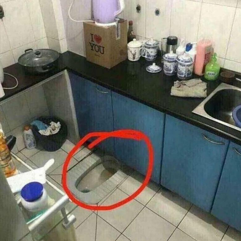desain dapur aneh