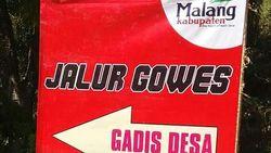 Viral Jalur Gowes Gadis Desa, Mau Bugar Kok Gimmick-nya Kemben Sih?