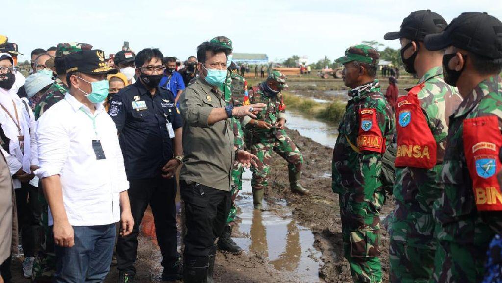 Mentan Cek Lumbung Pangan Kalteng Jelang Tanam Perdana