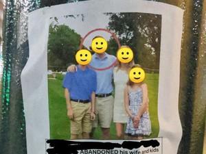 Balas Dendam, Wanita Pajang Poster Foto Keluarga & Suaminya yang Selingkuh