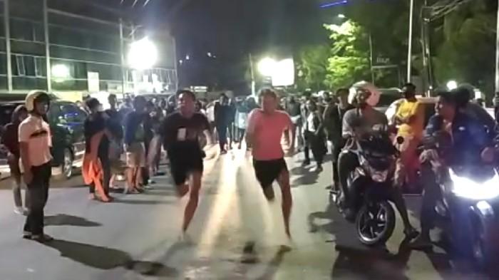 Balap lari liar di jalanan Kota Semarang