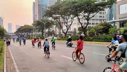Aktivitas Olahraga Masih Ramai di Sudirman-Thamrin, Sepeda Mendominasi