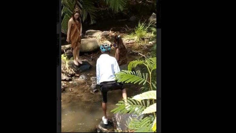 Tangkapan layar gowes gadis desa yang viral