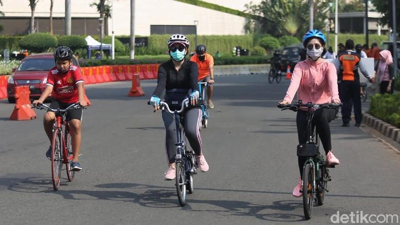 10 titik kawasan khusus pesepeda ditiadakan mulai pagi ini. Kebijakan itu dikeluarkan sebagai tindak lanjut atas penerapan kembali PSBB secara ketat di Jakarta.