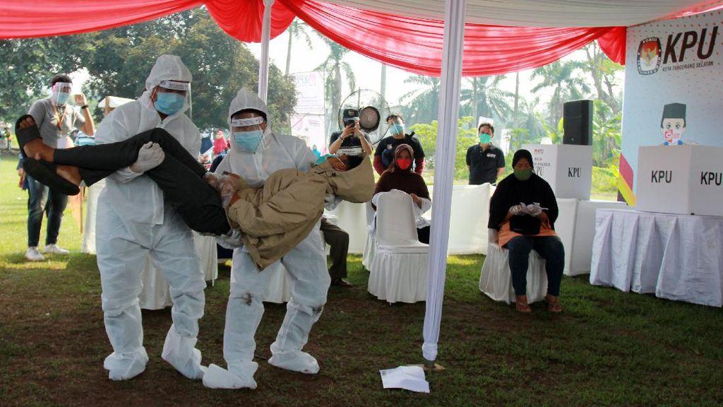 Foto Simulasi Pilkada di Tengah Pandemi COVID-19