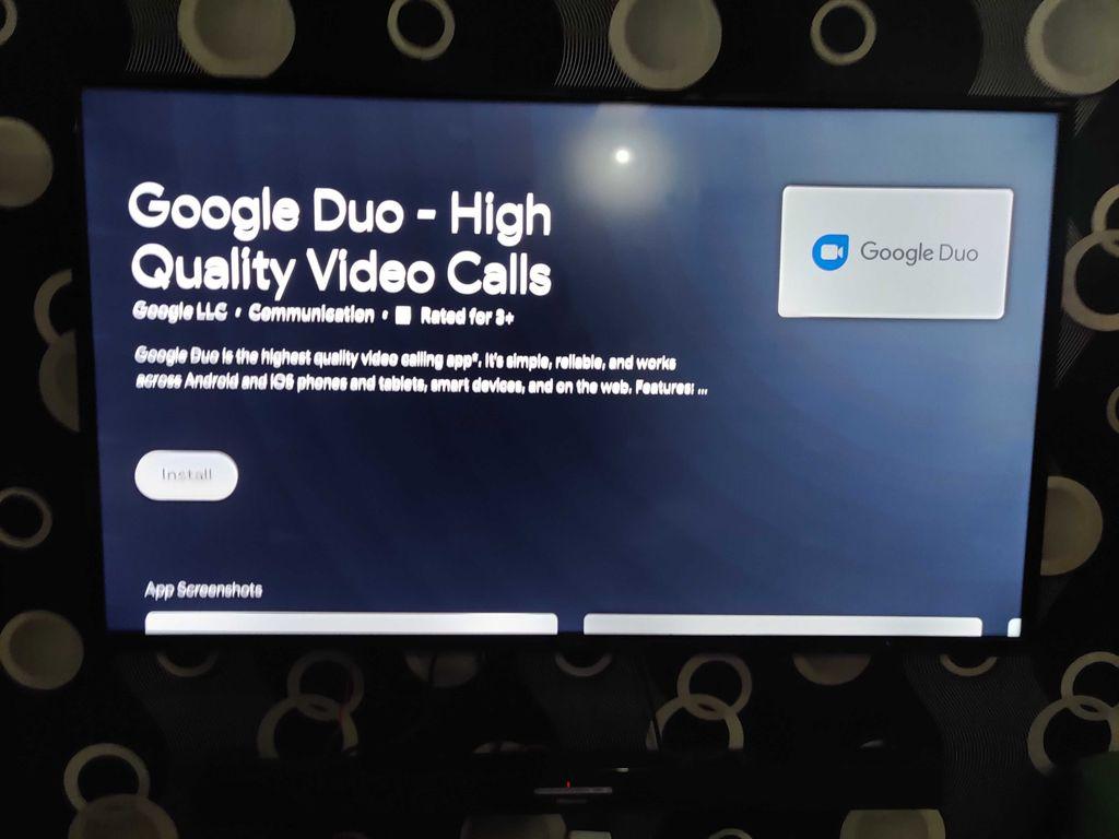 google duo di android tv
