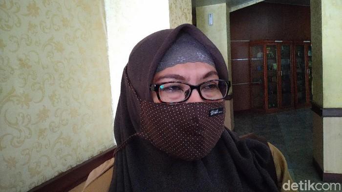 Juru bicara Gugus Tugas COVID-19 Kabupaten Bogor, Syarifa Sofiah (Sachril Agustin/detikcom)
