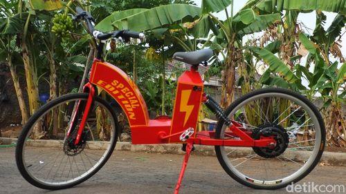 Sepeda Listrik 'Home Made' dari Bekasi