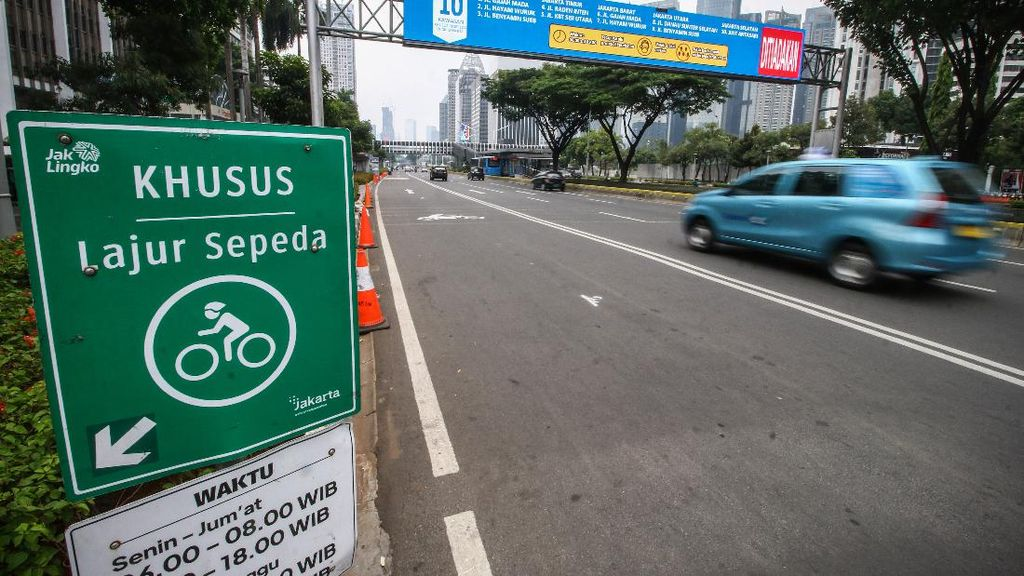 10 Titik Jalur Sepeda Jakarta Ditiadakan