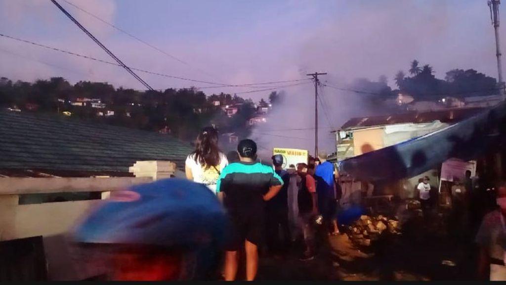 Kebakaran 3 Rumah Dinas TNI di Ambon, Tak Ada Korban Jiwa