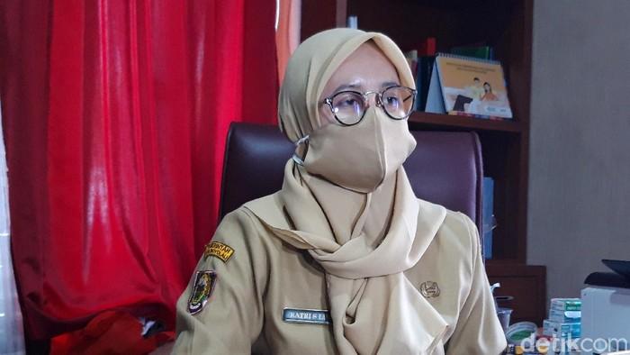 Kepala Dinas Kesehatan (Dinkes) Boyolali Ratri S Survivalina di kantornya, Jalan Pandanaran, Senin (14/9/2020).