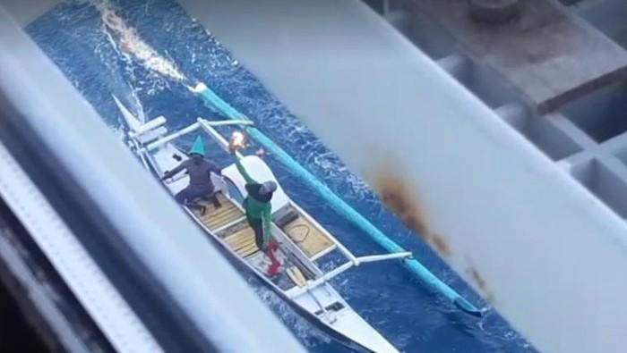 Nelayan Lempar Molotov ke Kapal Penambang di Makassar