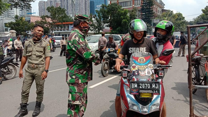 Operasi Yustisi di Medan (Ahmad Arfah-detikcom)
