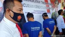 Gasak 6 Motor, Dua Pelaku Curanmor di Bandung Ditangkap Polisi