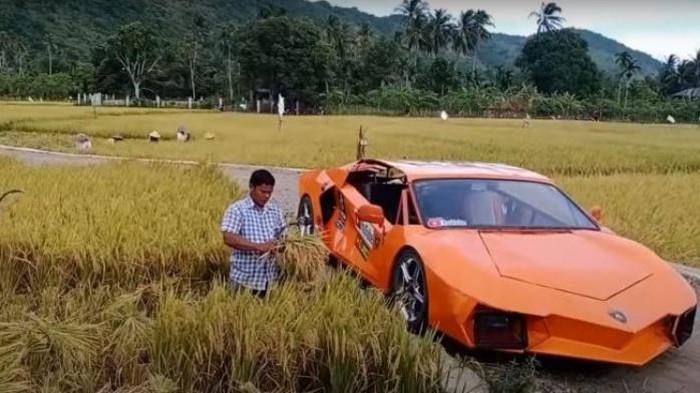 Petani asal Aceh memodifikasi Yamaha Vixion menjadi Lamborghini