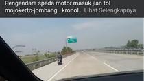 Lagi, Biker Masuk Tol Gegara Ikuti Google Maps