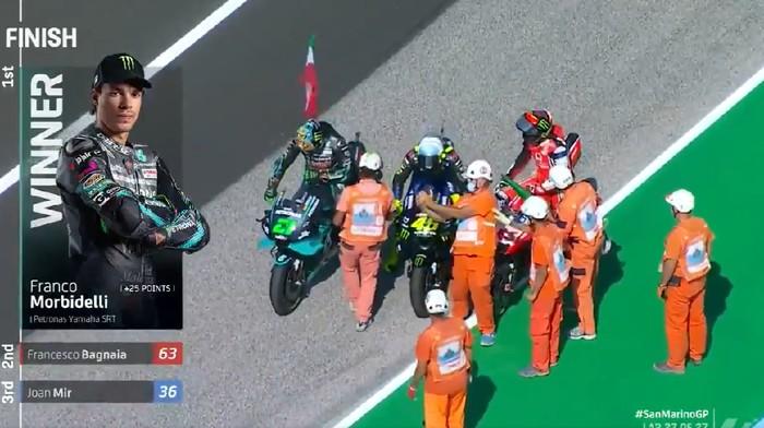 Valentino Rossi diasapi anak didiknya sendiri di MotoGP San Marino