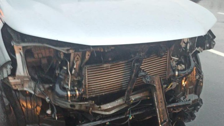 Fortuner-Volvo terlibat kecelakaan lalu lintas