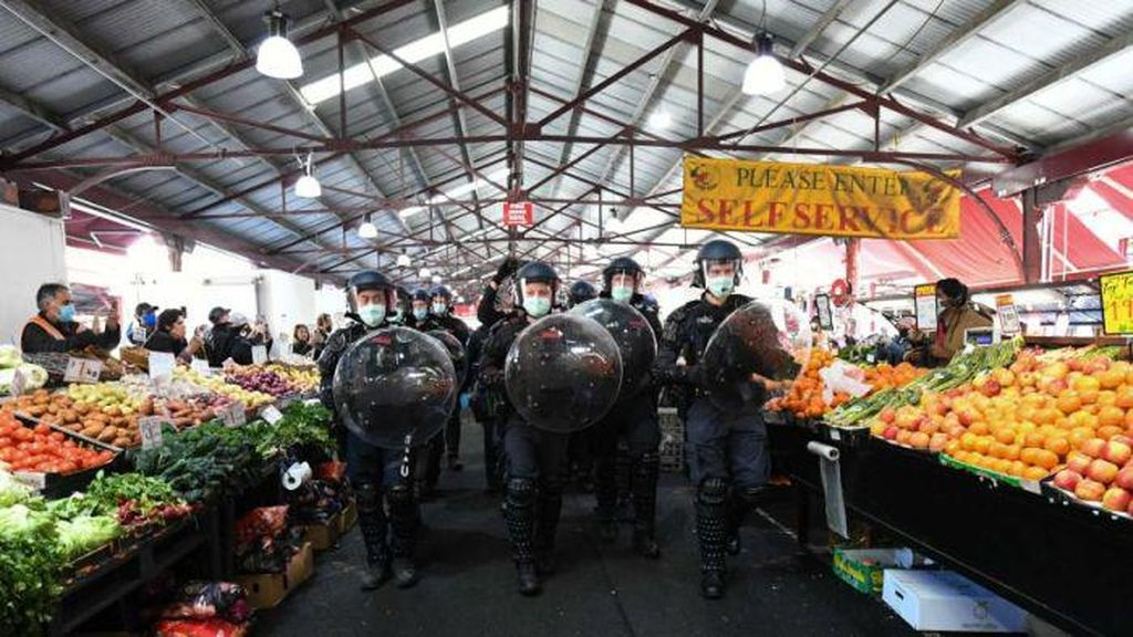 Menanggapi Lockdown, Sejumlah Warga Melbourne Berdemo Soal Kebebasan