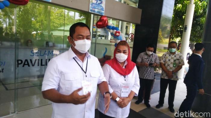 Wali Kota Semarang Hendrar Prihadi di RSUP dr Kariadi, Semarang, Selasa (15/9/2020).