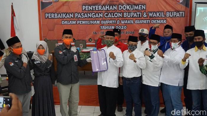 Ali Mahsun mendaftar gantikan Cawabup petahana Demak yang tak lolos tes kesehatan, Rabu (16/9/2020).