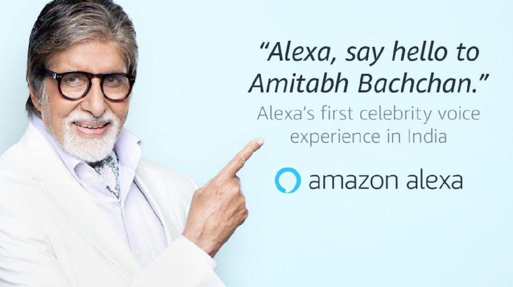 Acha acha, Aktor Bollywood Amitabh Bachchan Jadi Asisten Virtual Alexa