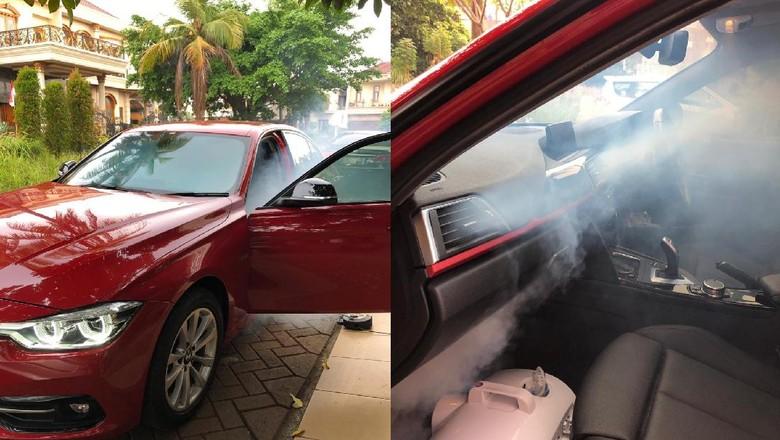 Cara membersihkan kabin mobil pakai metode fogging