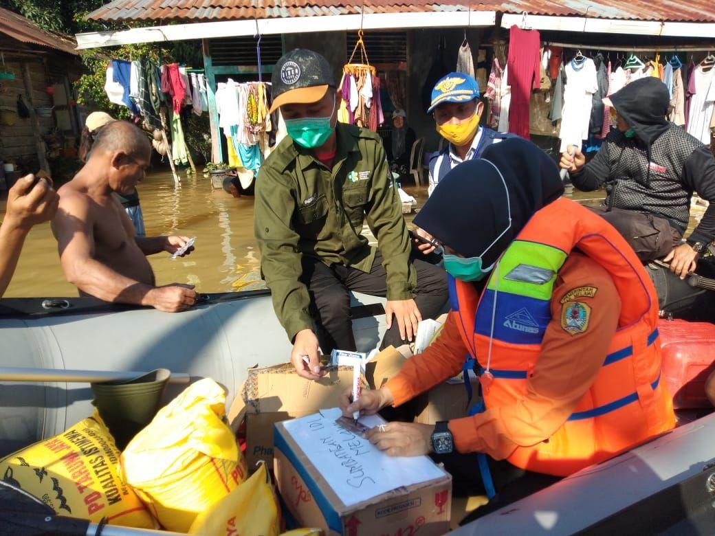 Kabupaten Melawi sudah 4 hari dilanda banjir. Sepuluh kecamatan terdampak dan 720 warga mengungsi (dok BNPB)