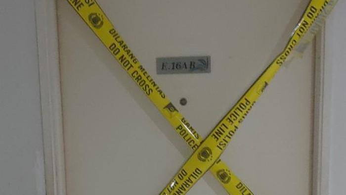 Lokasi penemuan mayat dimutilasi di Apartemen Kalibata City