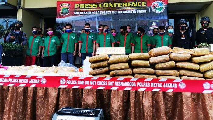 Pemusnahan narkoba di Polres Jakbar
