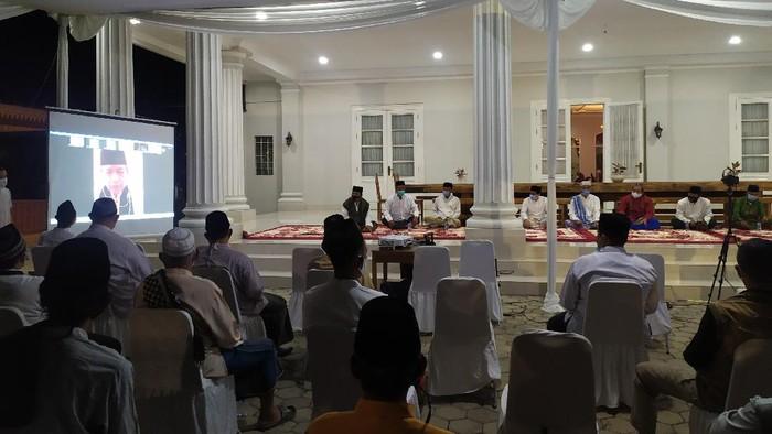 Tahlilan di kediaman Sekda DKI Saefullah, Rorotan, Cilincing, Jakarta Utara, Rabu (16/9/2020).
