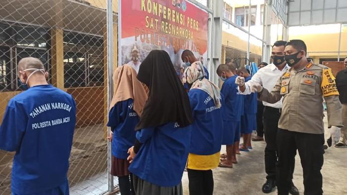 2 mahasiswi di Aceh diduga selundupkan sabu ditangkap polisi (Agus Setyadi-detikcom)