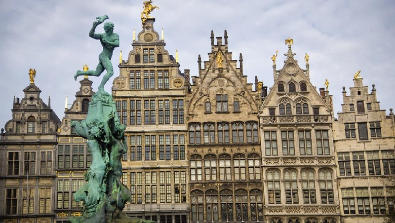 Brabos Monument (Brabomonument) and in Antwerp, Belgium.