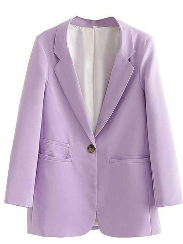 Blazer warna lilac