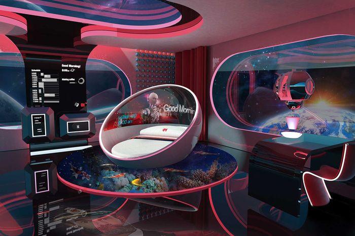 Desain hotel luar angkasa
