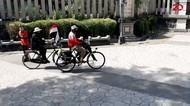 Kampanyekan Donor Darah-Masker, Kakek Ini Gowes Sepeda Bandung-Solo