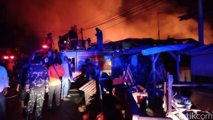 Kebakaran di Pasar tradisional Cepogo, Boyolali, Kamis (17/9/2020).