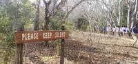 Saat treking, wisatawan diminta untuk tidak bersuara.