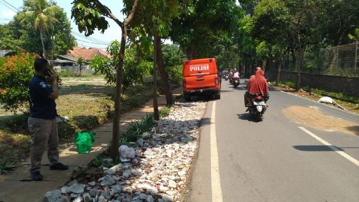 Lokasi penemuan Briptu Andry Budi Wibowo tewas di Cipayung, Jaktim.