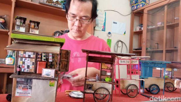 miniatur gerobak