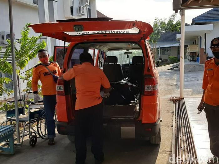 Penemuan mayat di Pantai Ngedan, Gunungkidul, Kamis (17/9/2020).
