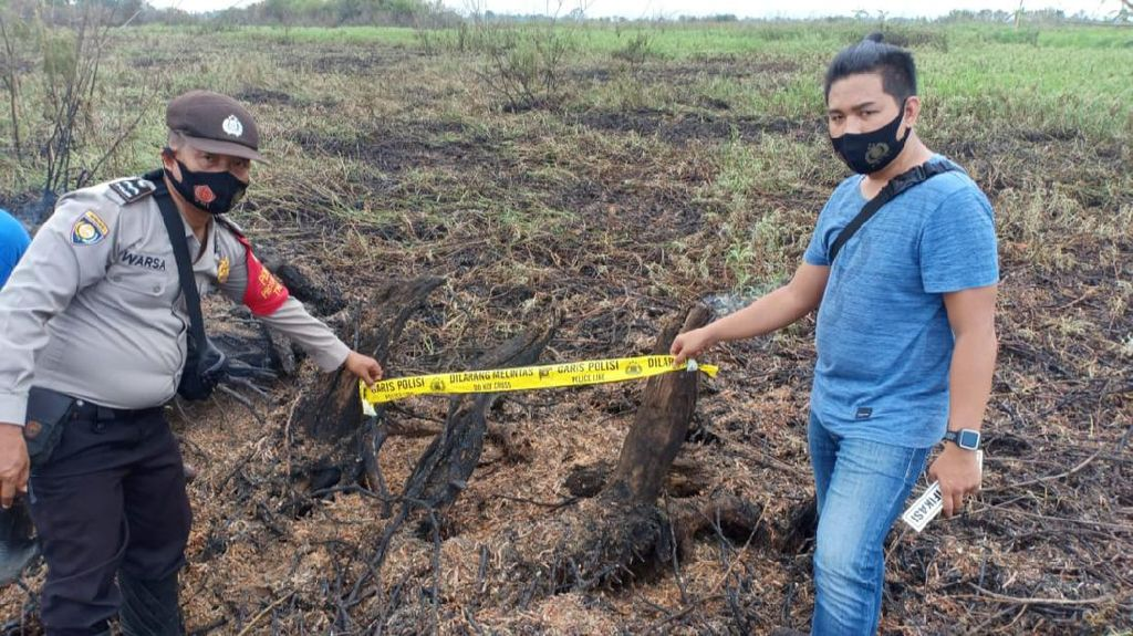 Bakar Lahan Gambut untuk Sawah, Petani di Muara Enim Sumsel Ditangkap