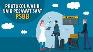 Protokol Naik Pesawat Saat PSBB Jakarta