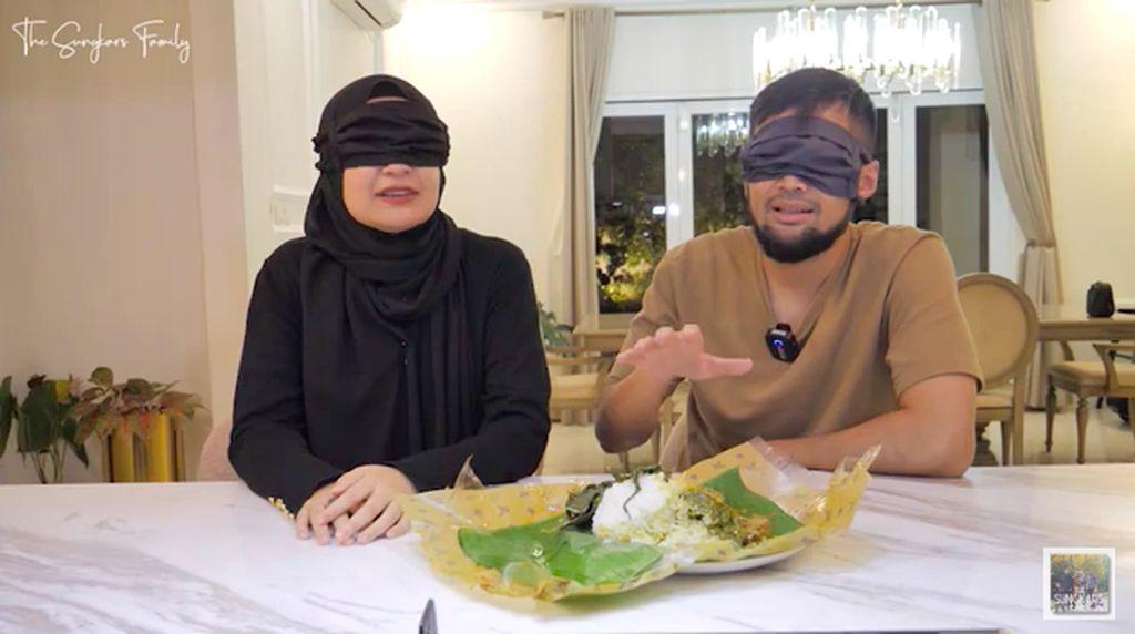 Shireen Sungkar dan Teuku Wisnu Adu Kelezatan 3 Nasi Rendang