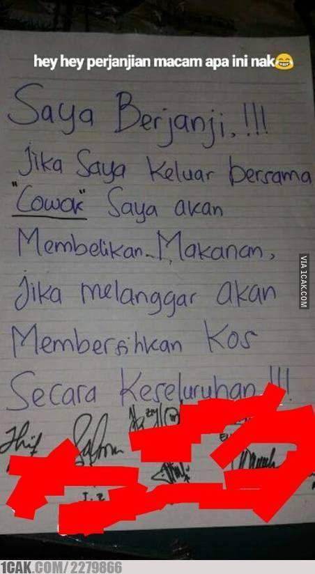 surat perjanjian pacaran