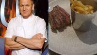 Gordon Ramsay Dikritik Tajam karena Sajikan Steak Mini dan Kentang Goreng Keasinan