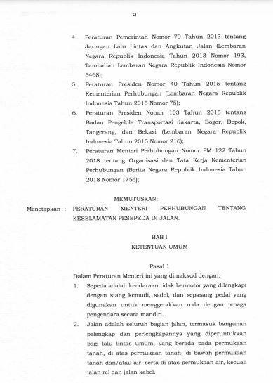 hal 3, Hal 2, Peraturan Menteri Perhubungan No PM 59 Tahun 2020 Tentang Keselamatan Sepeda