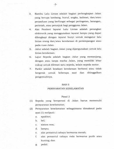 hal 4 hal 3, Hal 2, Peraturan Menteri Perhubungan No PM 59 Tahun 2020 Tentang Keselamatan Sepeda