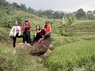 Hiking ke Curug Menembus Sawah-Perbukitan Ini ada di Sentul Lho