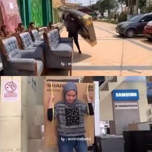 Kisah Pilu Hijabers Tangguh, Kerja 12 Jam Angkat Mesin Cuci Hingga Kasur